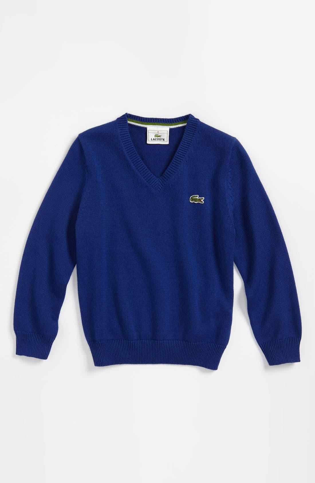 Alternate Image 1 Selected - Lacoste V-Neck Sweater (Toddler)