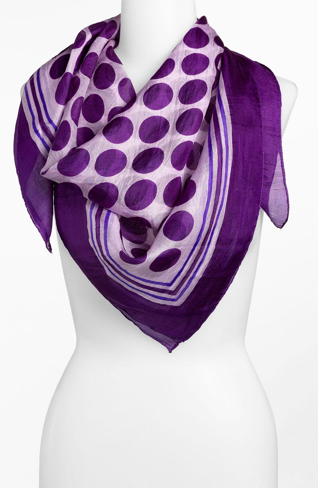 Alternate Image 1 Selected - Janie Besner Polka Dot Silk Scarf
