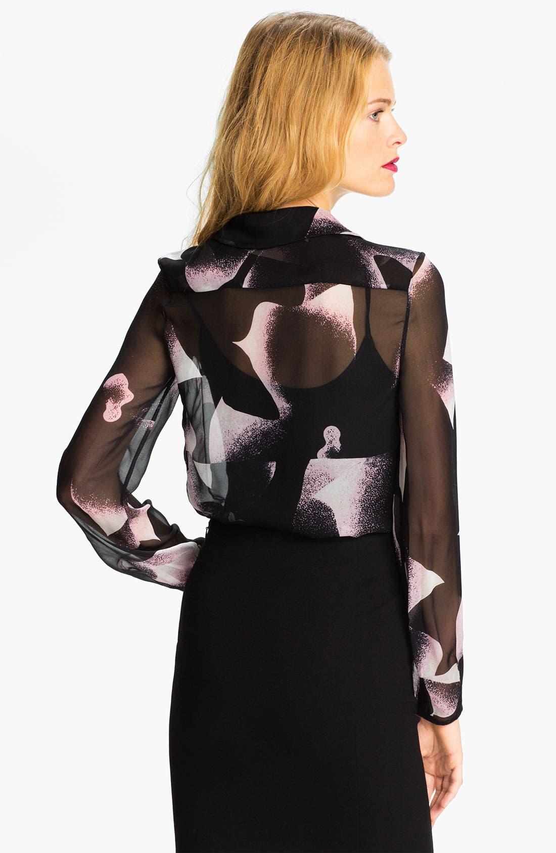 Alternate Image 2  - Diane von Furstenberg Print Silk Blouse