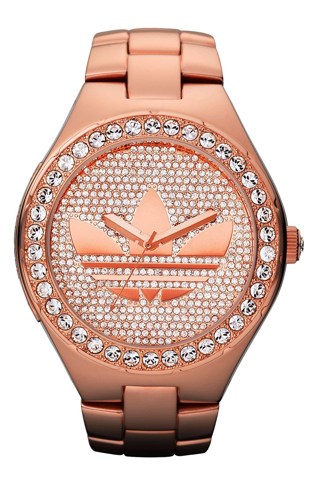 Main Image - adidas Originals 'Melbourne' Pavé Crystal Watch, 50mm
