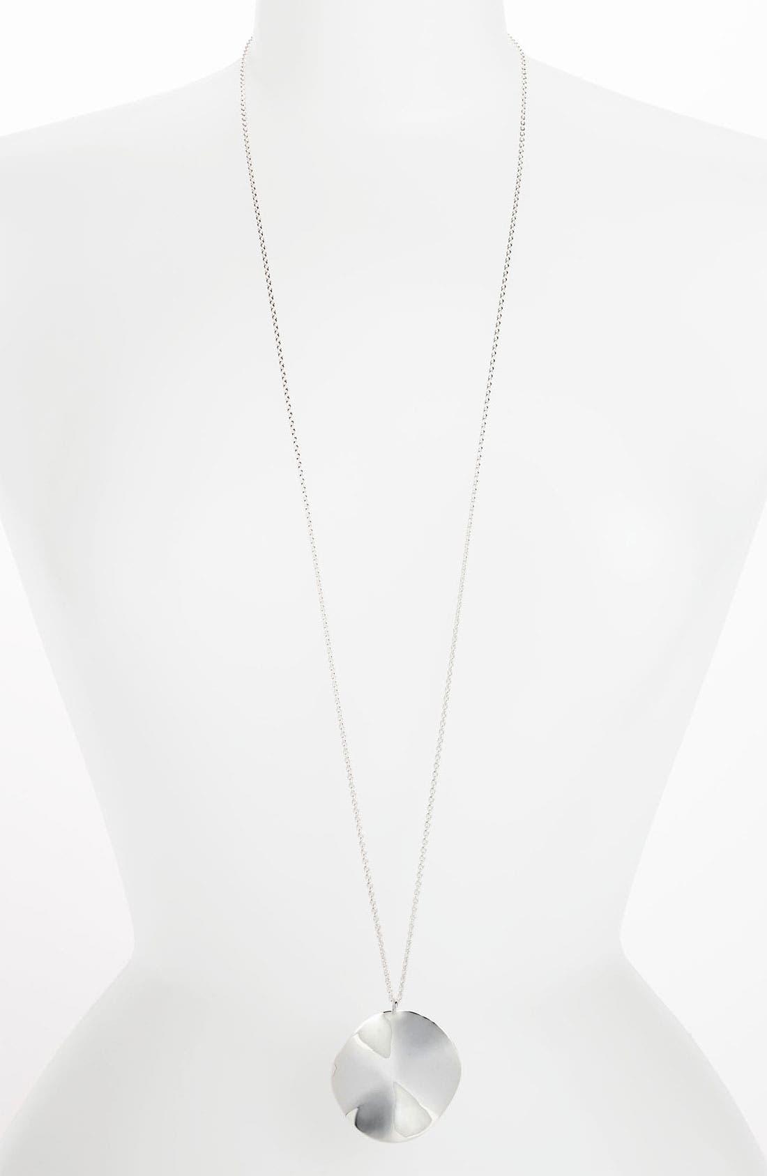 Alternate Image 2  - Ippolita 'Scultura' Long Wavy Circle Pendant Necklace