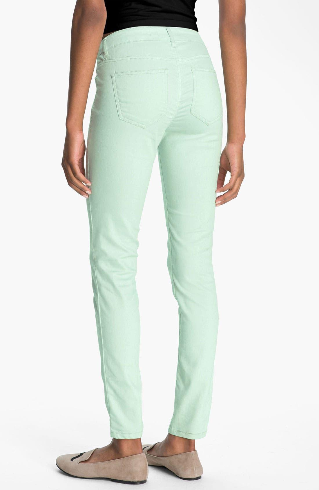 Alternate Image 1 Selected - Fire Skinny Jeans (Juniors)