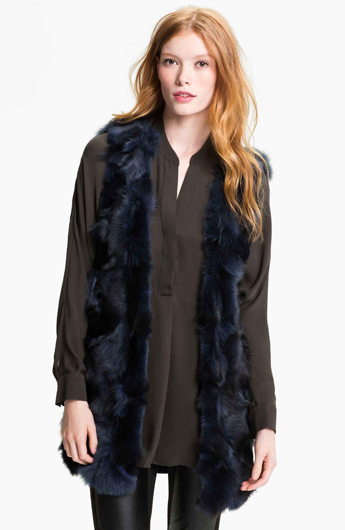 Main Image - Alberto Makali Genuine Fox Fur & Knit Vest (Online Exclusive)