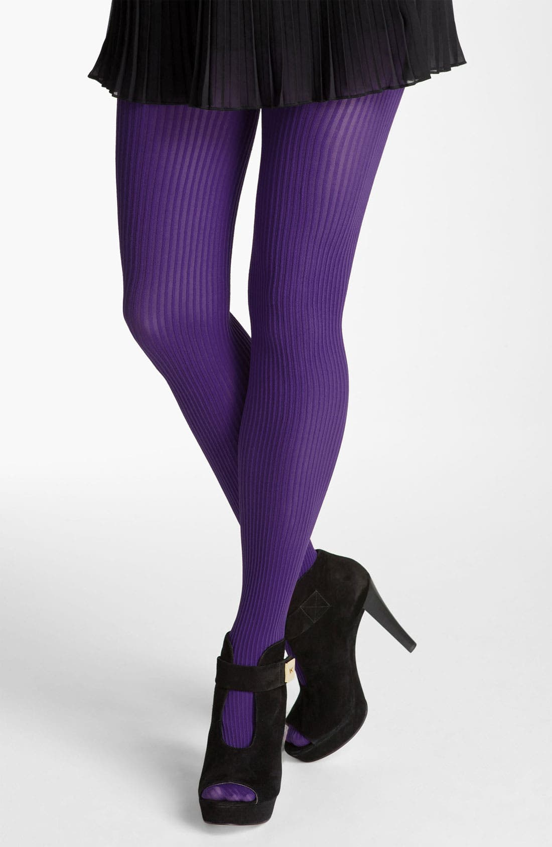 Main Image - Nordstrom Ribbed Tights