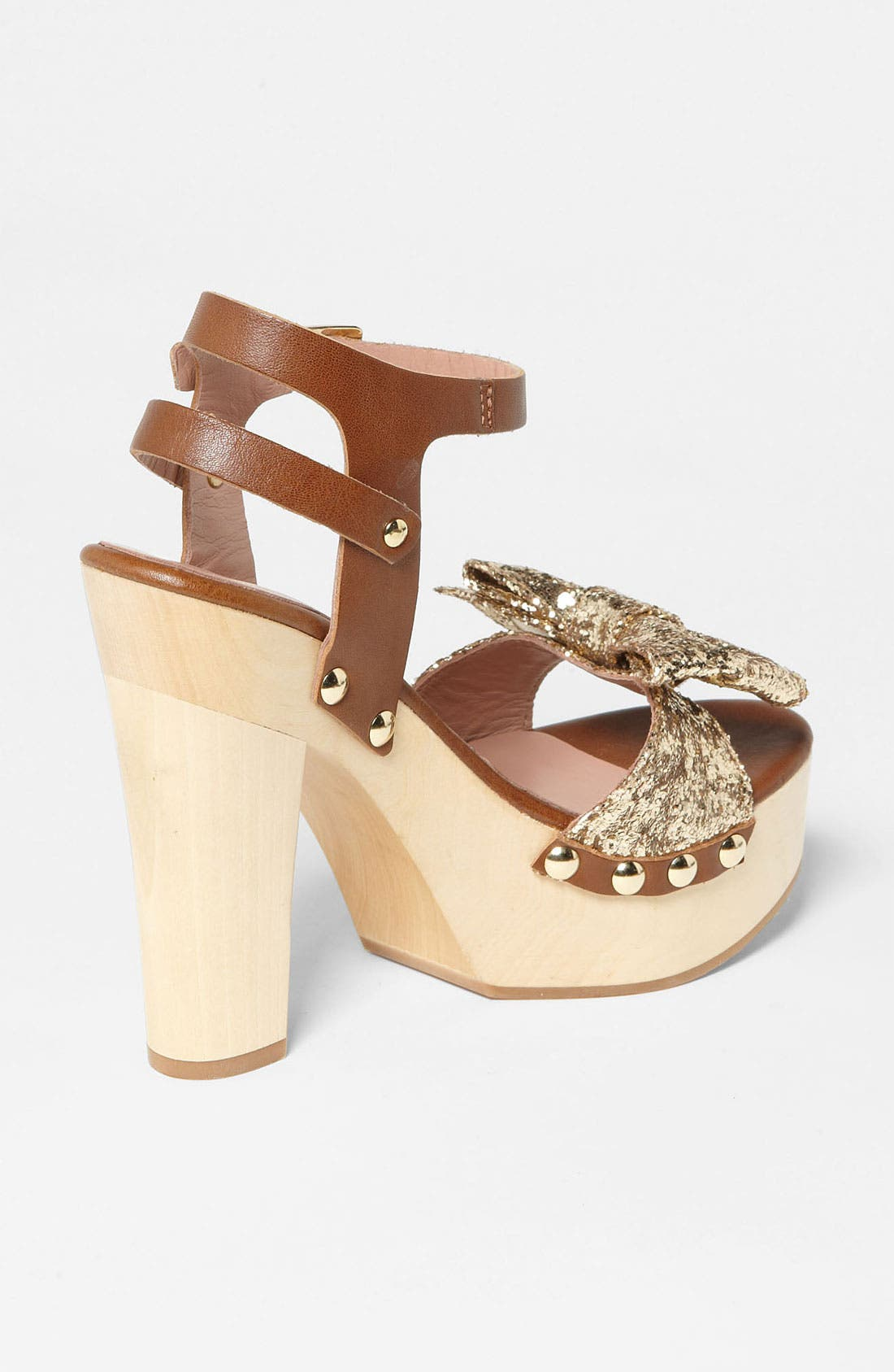 Alternate Image 2  - RED Valentino Gold Glitter Sandal