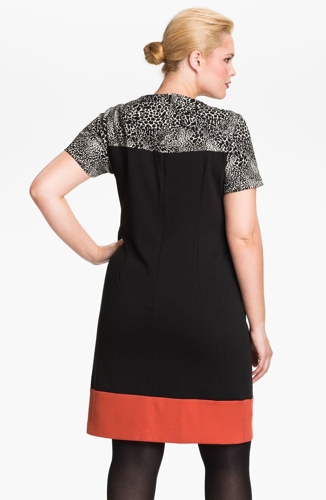Alternate Image 2  - Eliza J Colorblock Shift Dress (Plus)