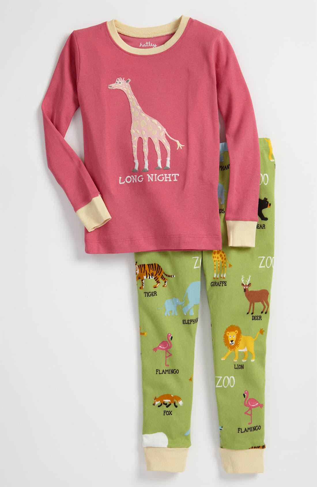 Main Image - Hatley Two Piece Fitted Pajama Set (Toddler)
