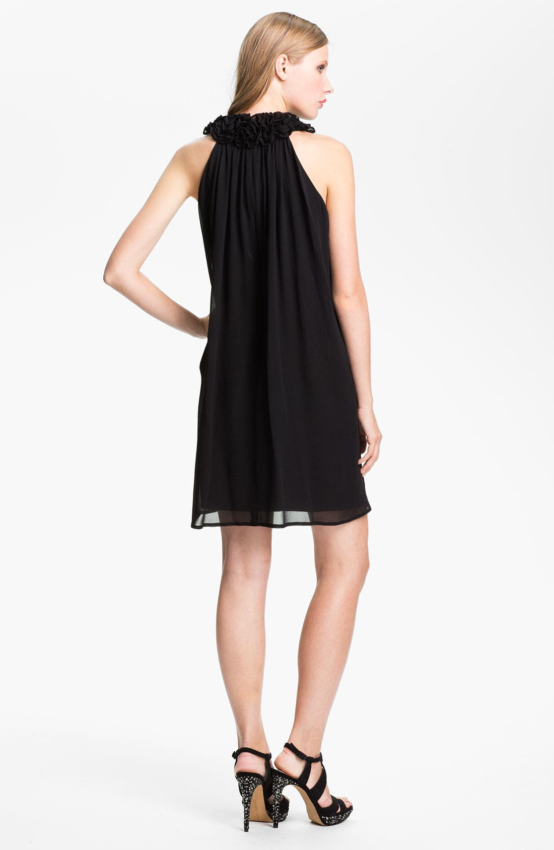 Alternate Image 2  - French Connection 'Gergie' Ruffle Collar Trapeze Dress