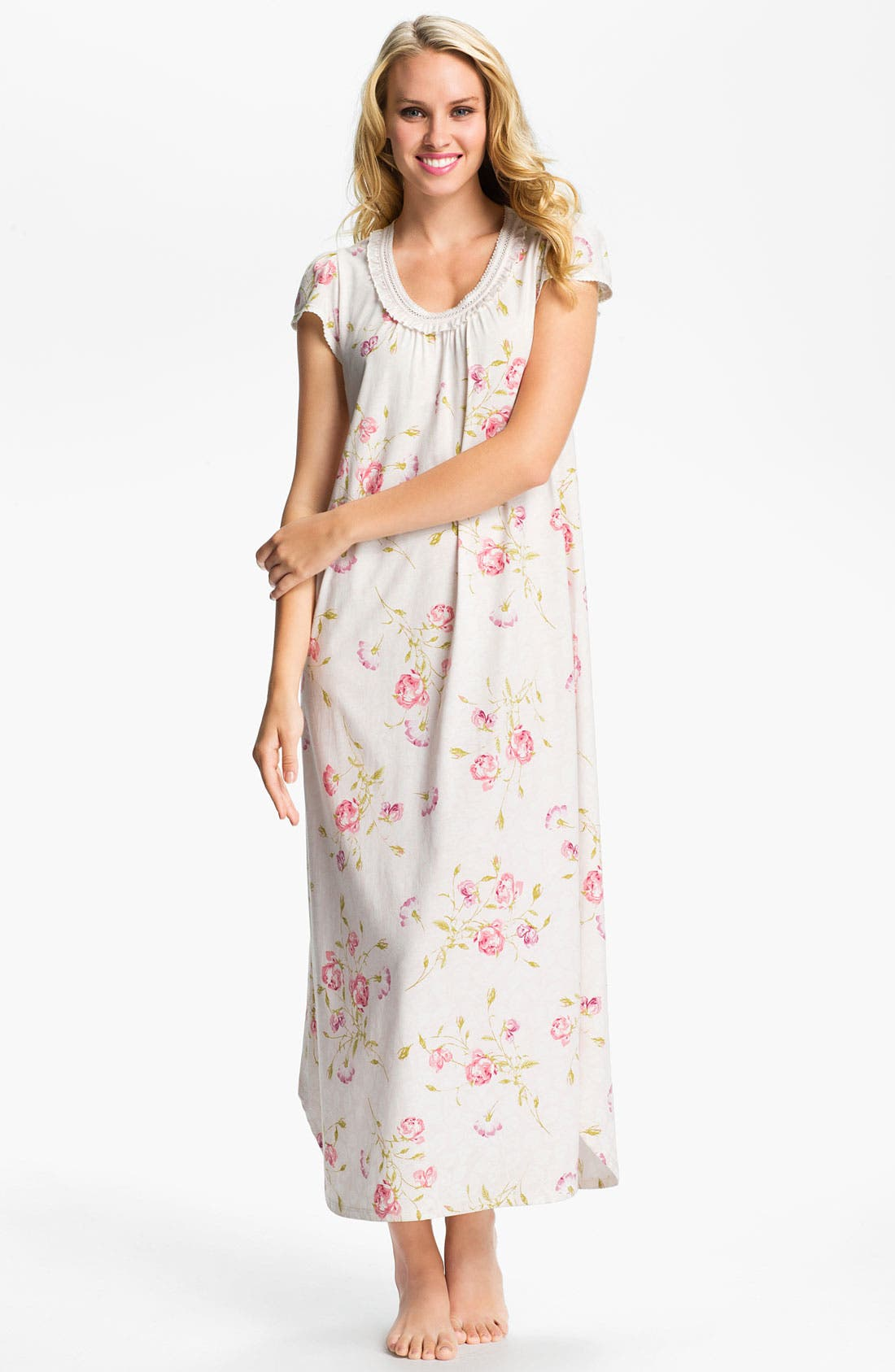 Alternate Image 1 Selected - Carole Hochman Designs 'Vintage Roses' Nightgown