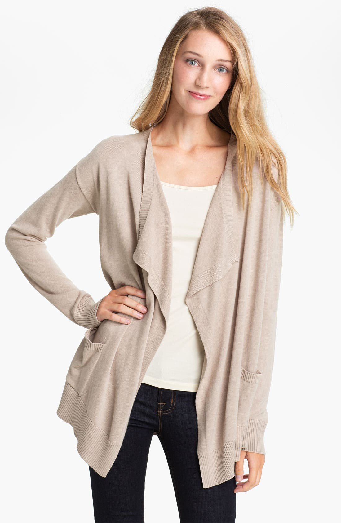 Alternate Image 1 Selected - Vince Camuto Drape Front Cardigan