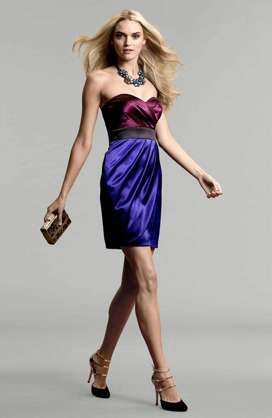 Alternate Image 4  - Hailey by Adrianna Papell Colorblock Satin Sheath Dress