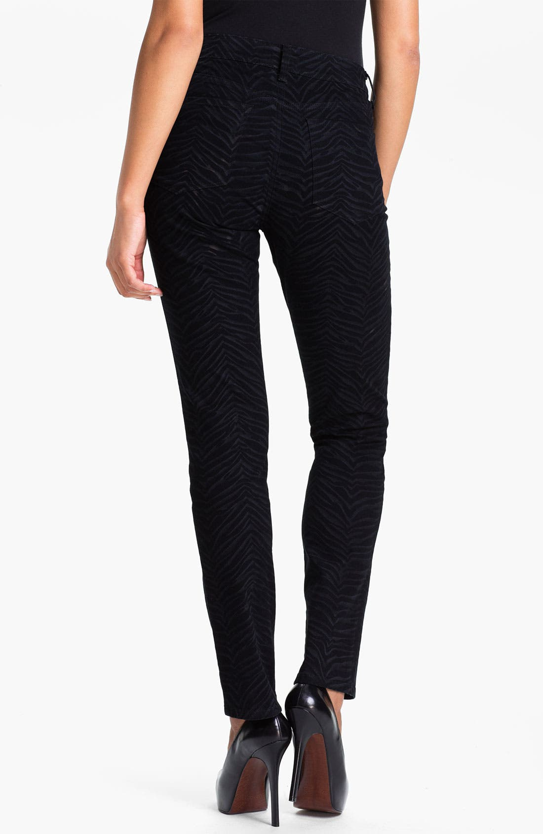 Alternate Image 2  - NYDJ 'Sheri - Zebra' Print Twill Skinny Jeans