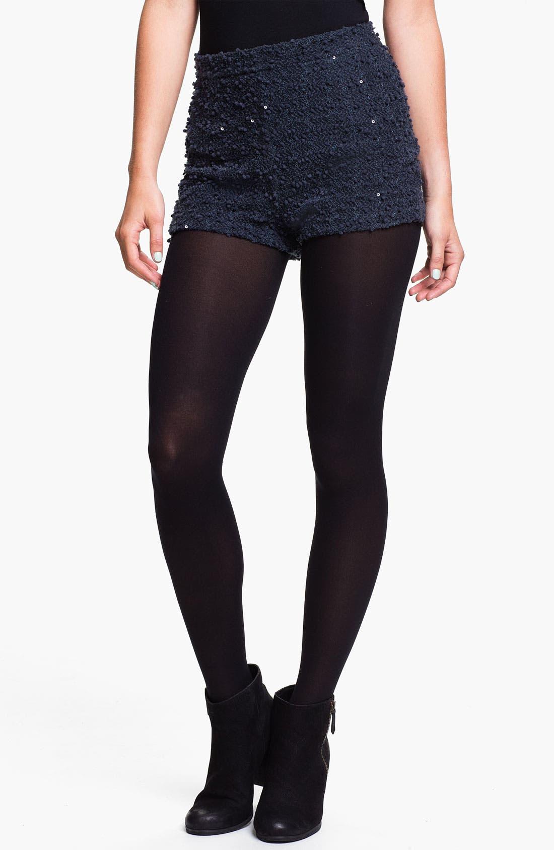 Main Image - Lush Sequin Bouclé Shorts (Juniors)