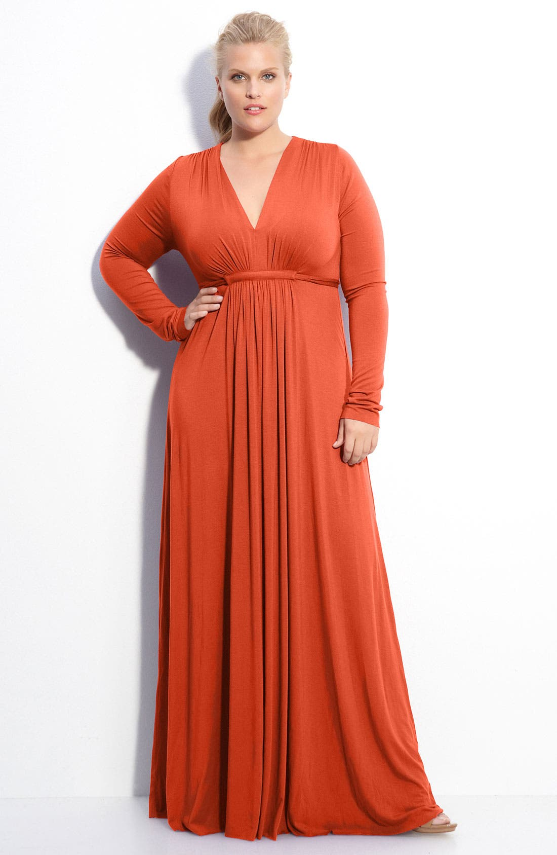 Alternate Image 1 Selected - Rachel Pally Long Sleeve Maxi Dress (Plus)