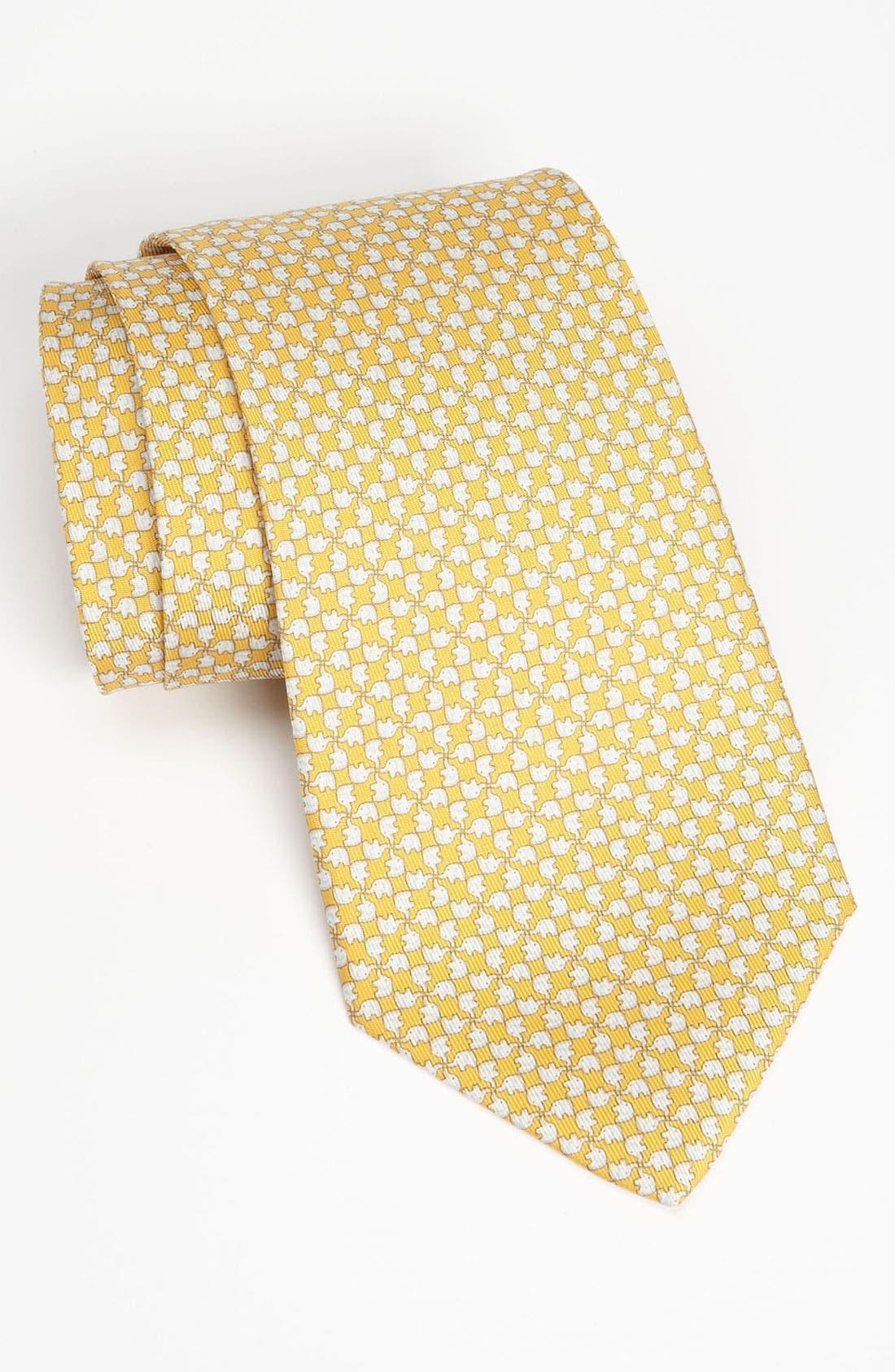Alternate Image 1 Selected - Salvatore Ferragamo Woven Silk Tie
