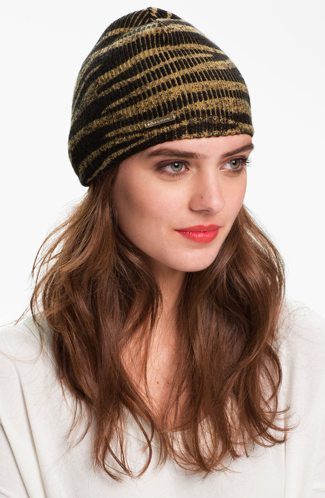 Alternate Image 1 Selected - MICHAEL Michael Kors Animal Print Skull Cap