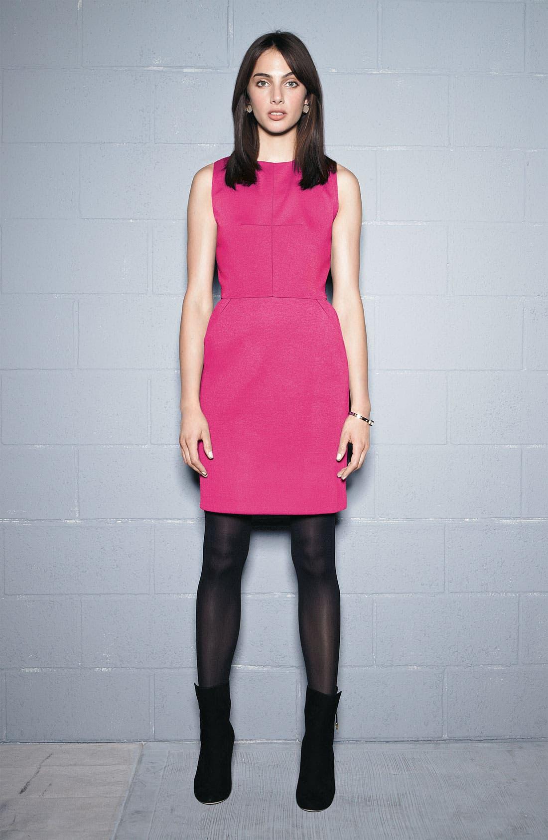 Alternate Image 3  - Donna Morgan Sleeveless Ponte Knit Tulip Dress