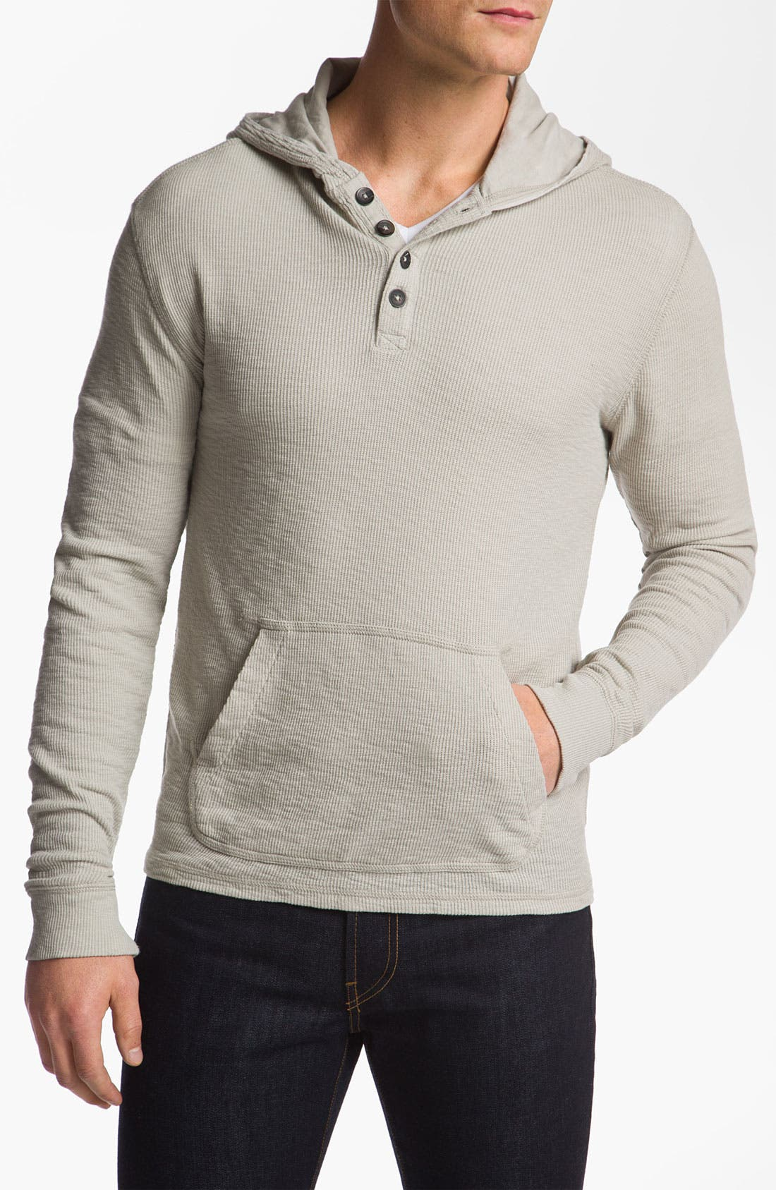 Alternate Image 1 Selected - 7 For All Mankind® Slubbed Thermal Hoodie
