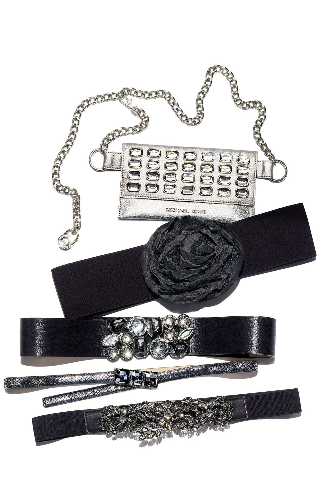 Alternate Image 3  - Cara Floral Crystal Stretch Belt