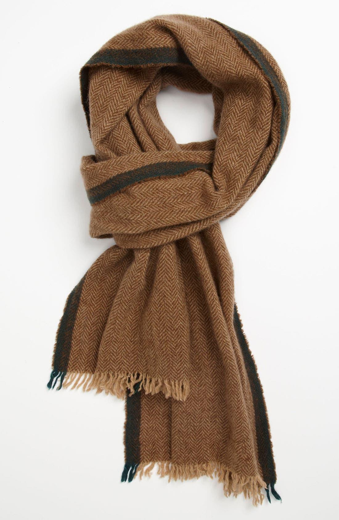 Main Image - Polo Ralph Lauren Herringbone Wool & Cashmere Scarf
