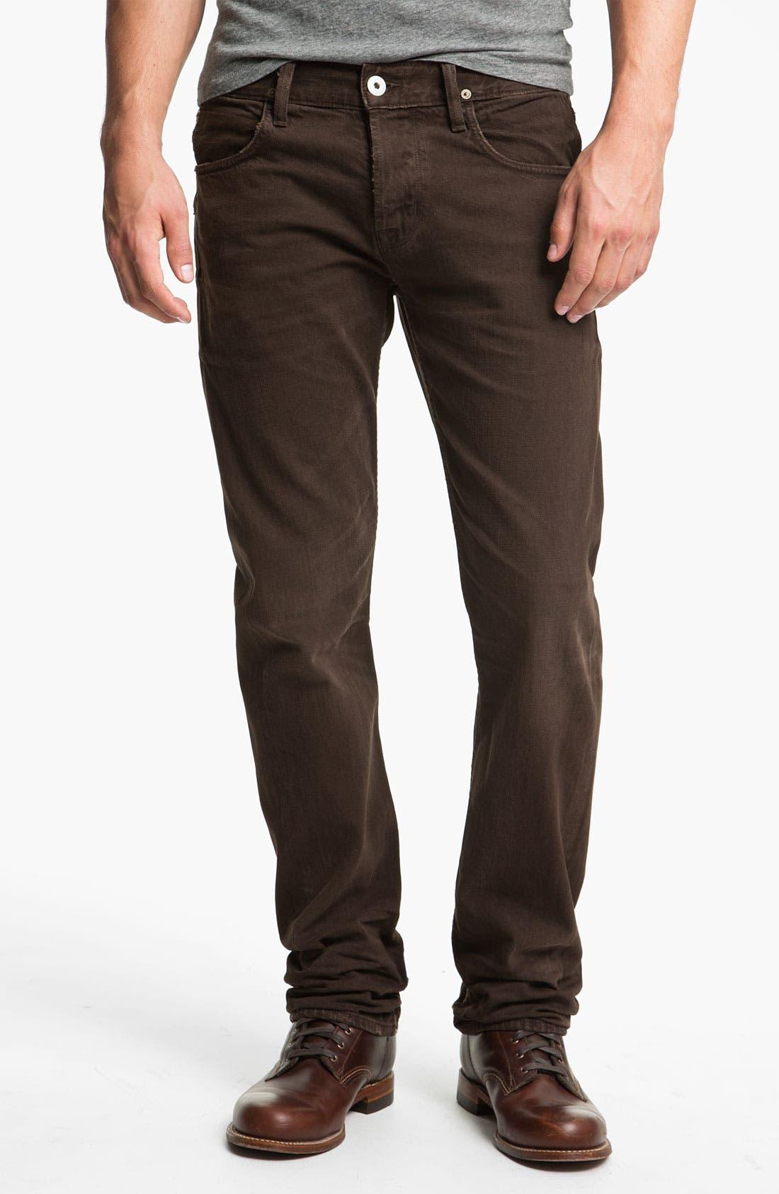 Alternate Image 2  - Hudson Jeans 'Byron' Selvedge Jeans (Russet)