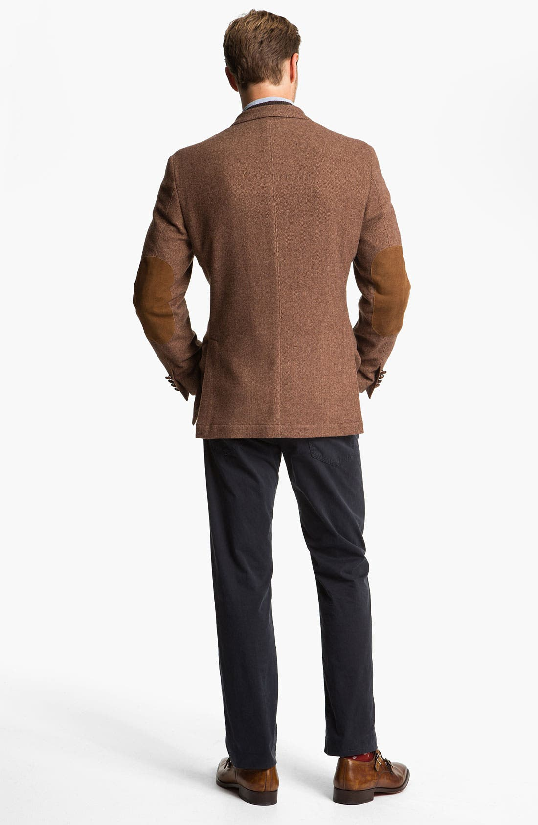 Alternate Image 5  - MacAlan Diamond Front Cashmere Sweater