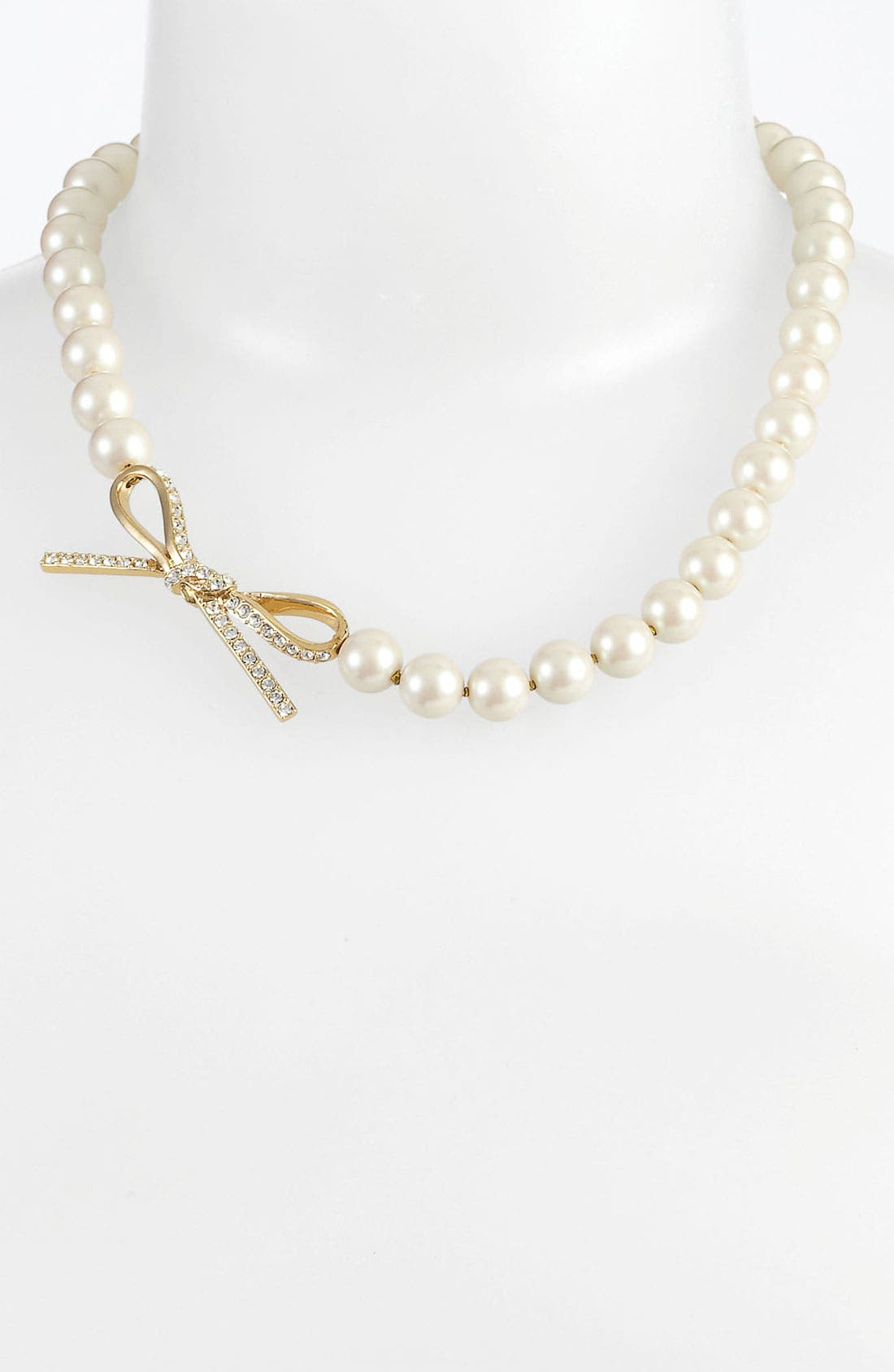 Main Image - kate spade new york 'skinny mini' faux pearl necklace