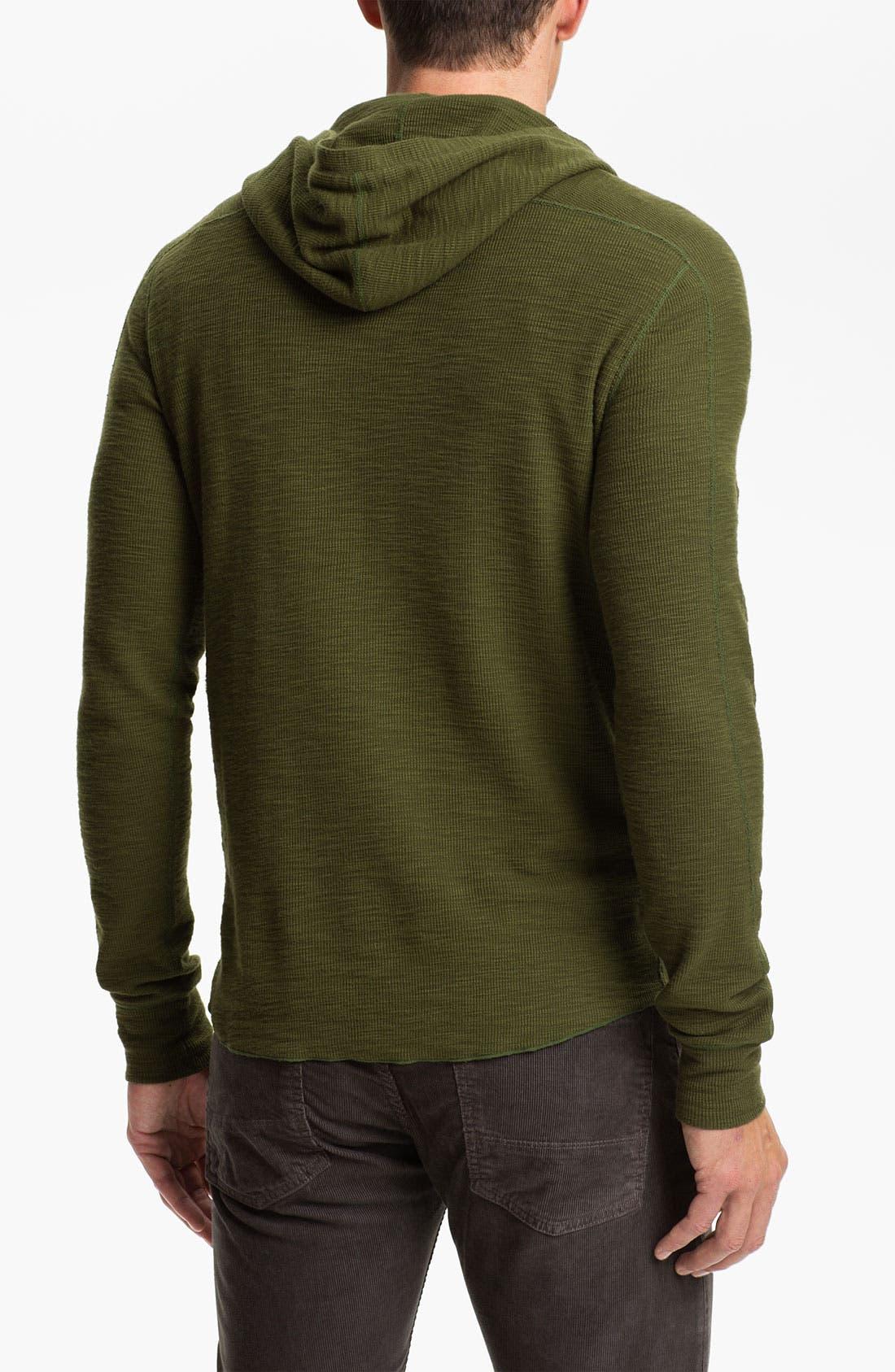 Alternate Image 2  - Vince Hooded Henley Thermal Shirt