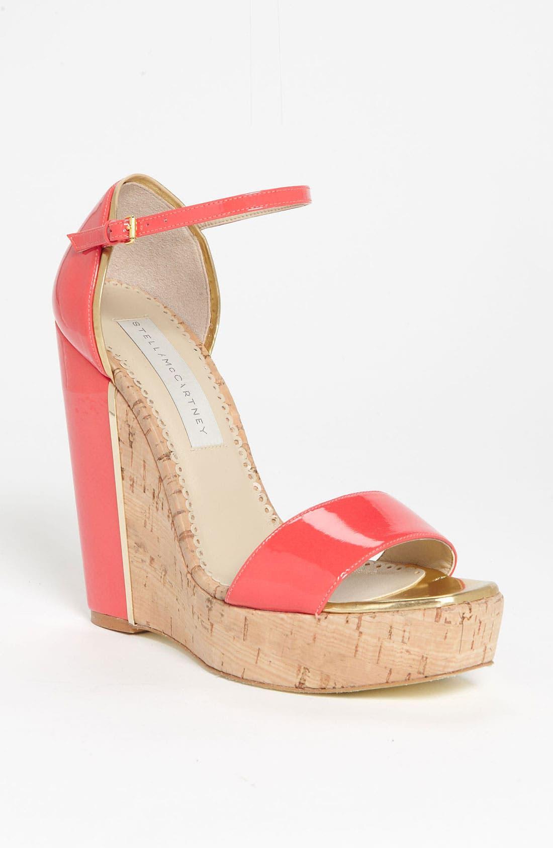 Alternate Image 1 Selected - Stella McCartney Open Toe Wedge Sandal