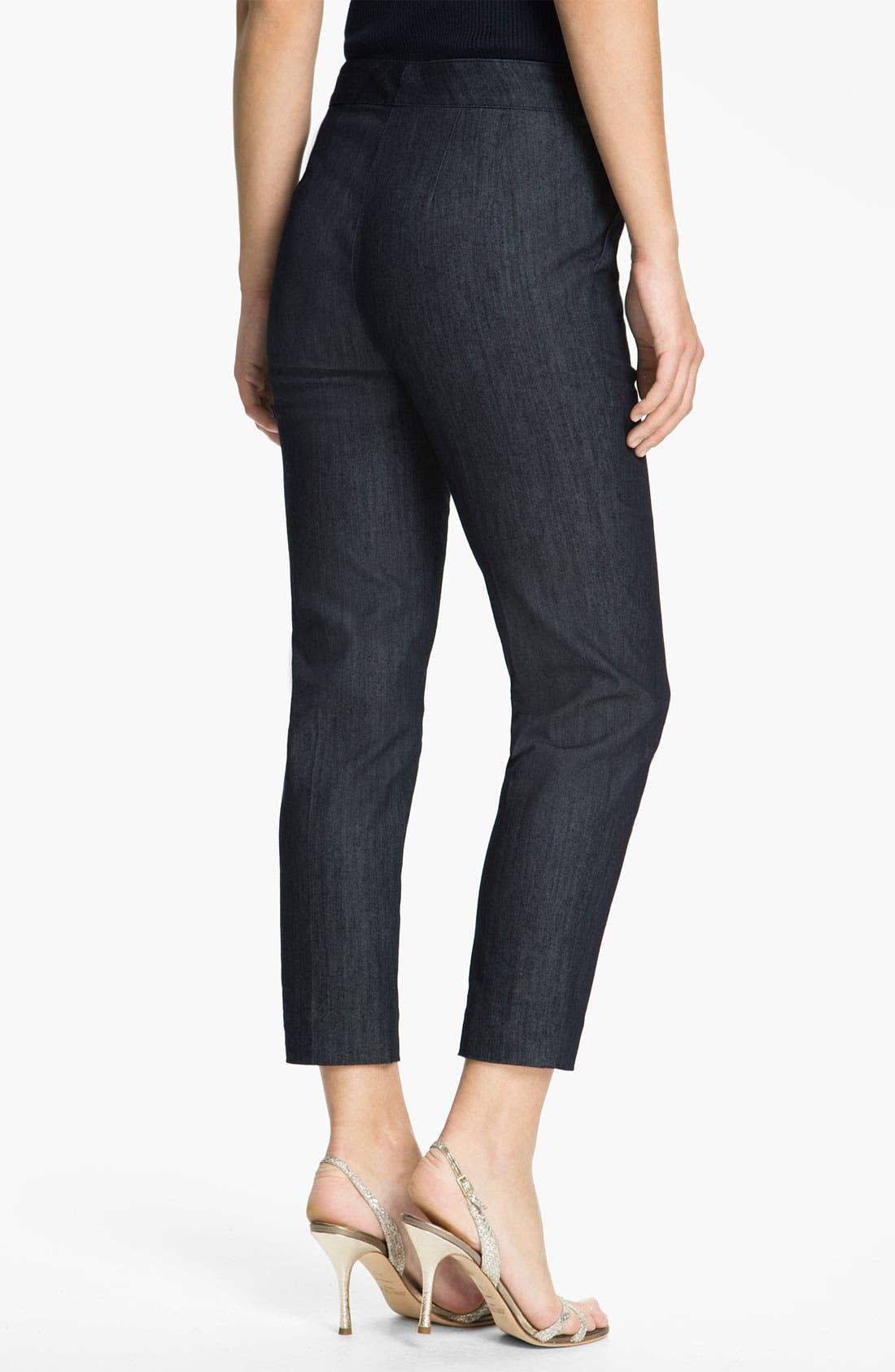 Alternate Image 2  - St. John Collection Lightweight Crop Denim Pants