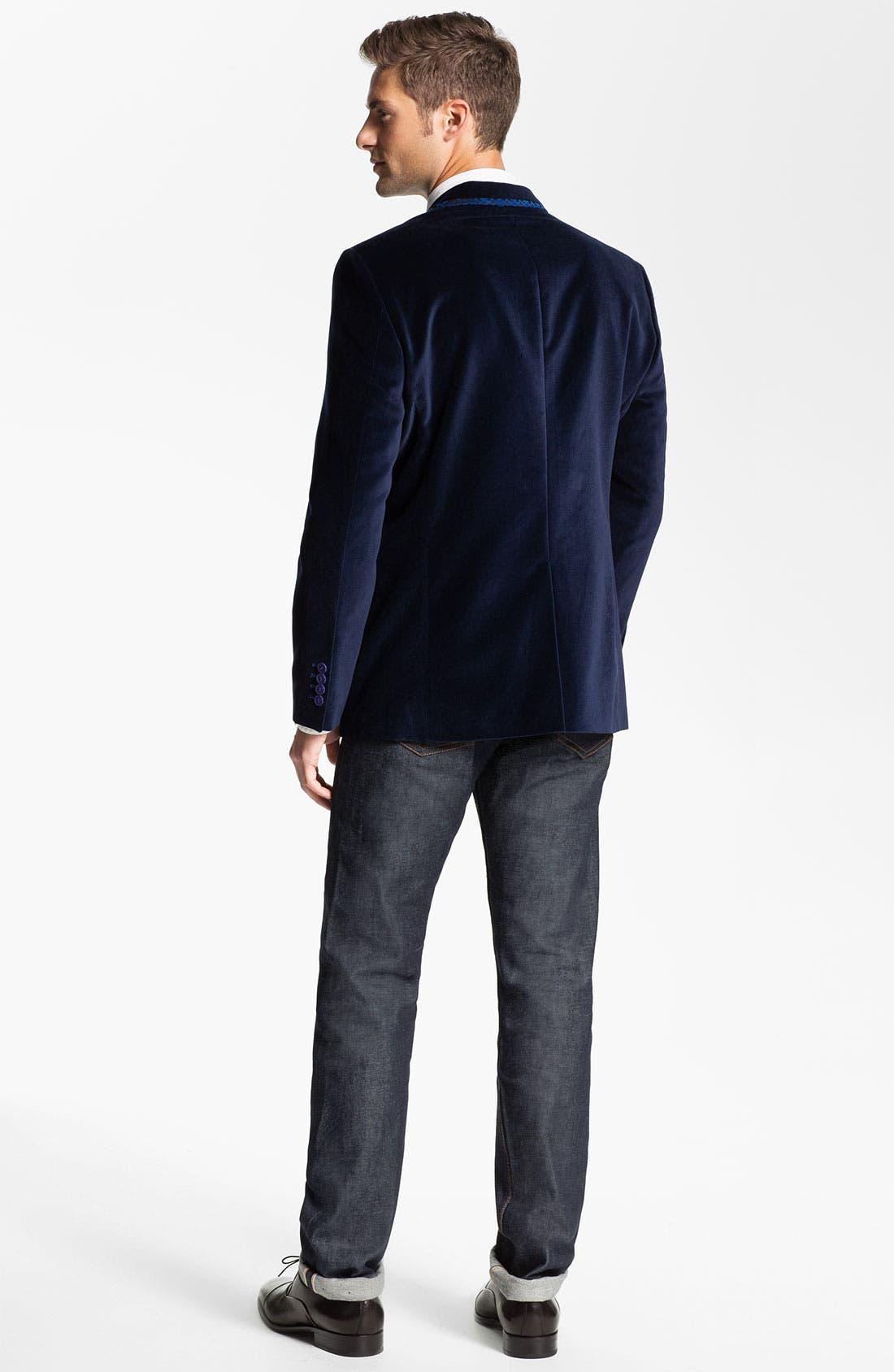 Alternate Image 5  - Bogosse 'Thomas' Velvet Blazer