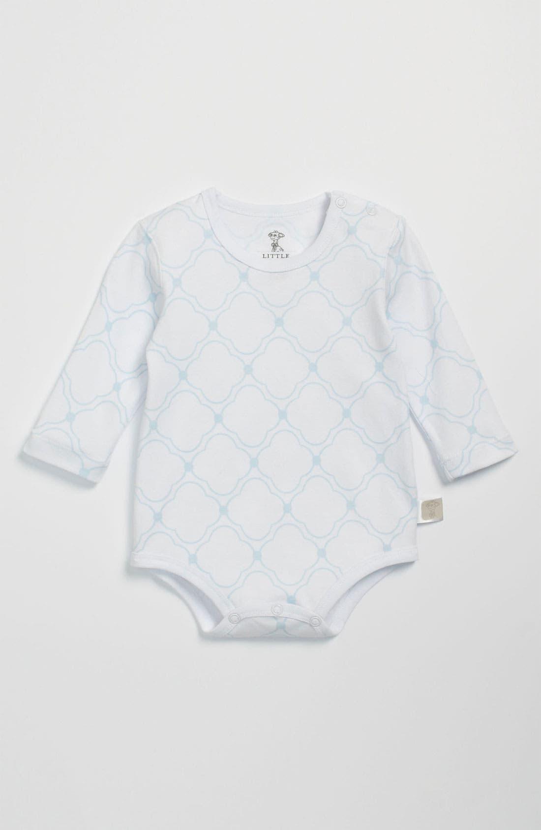 Main Image - Little Giraffe Long Sleeve Bodysuit (Infant)
