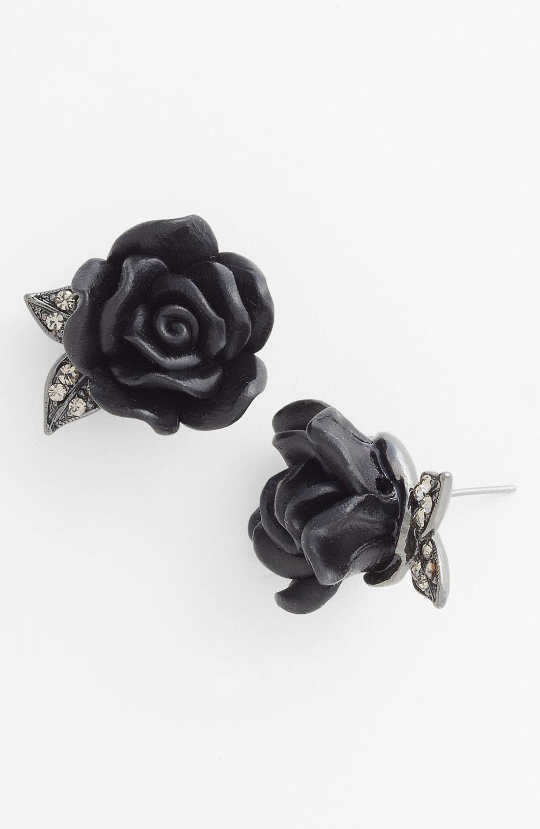Main Image - Nordstrom 'Dark Glamour' Flower Stud Earrings
