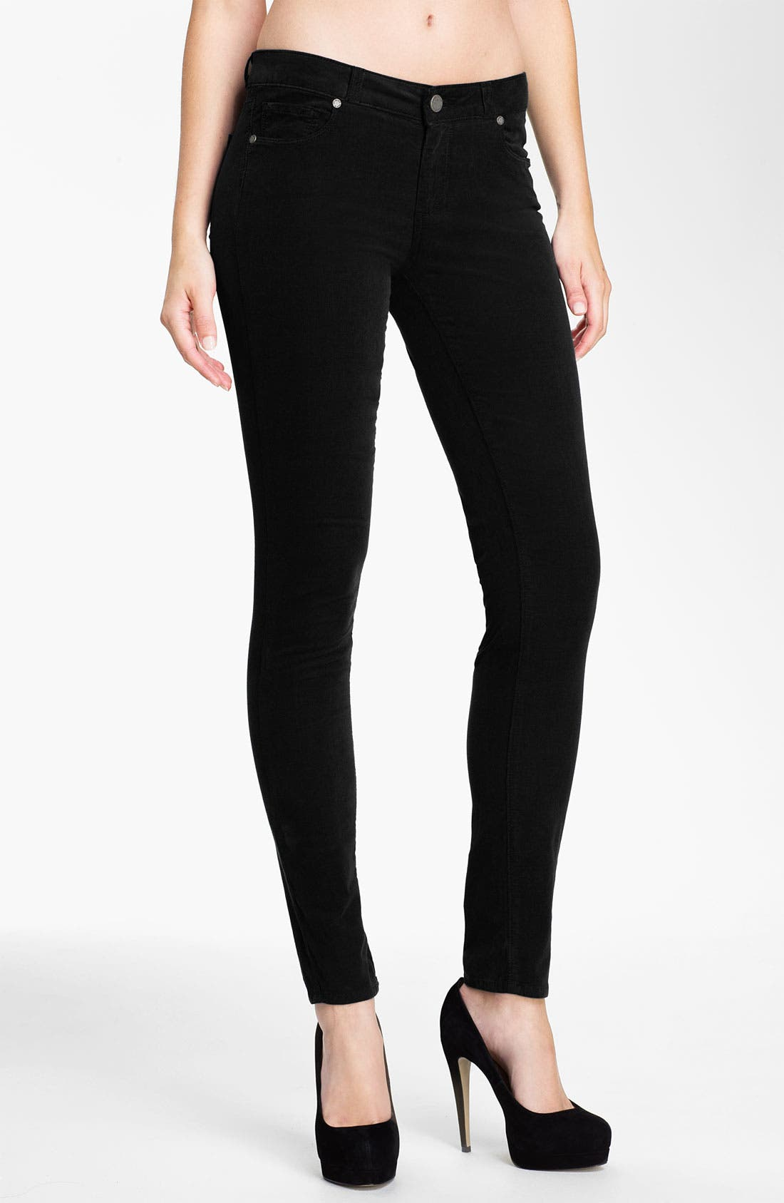 Main Image - Paige Denim 'Verdugo' Stretch Denim Skinny Jeans (Black)