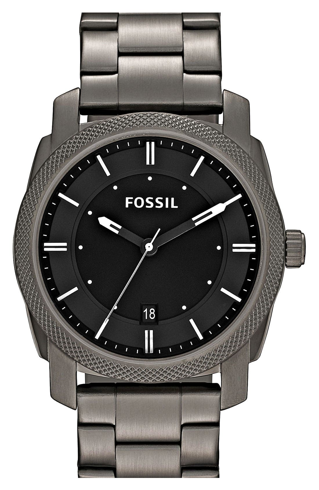 Alternate Image 1 Selected - Fossil 'Machine' Bracelet Watch, 42mm