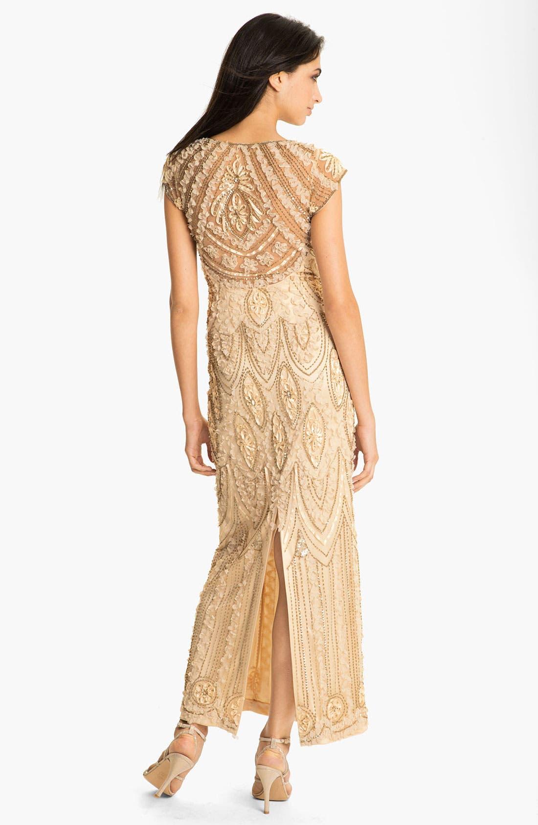 Alternate Image 2  - Sue Wong Embellished Sheer Back Mesh Gown
