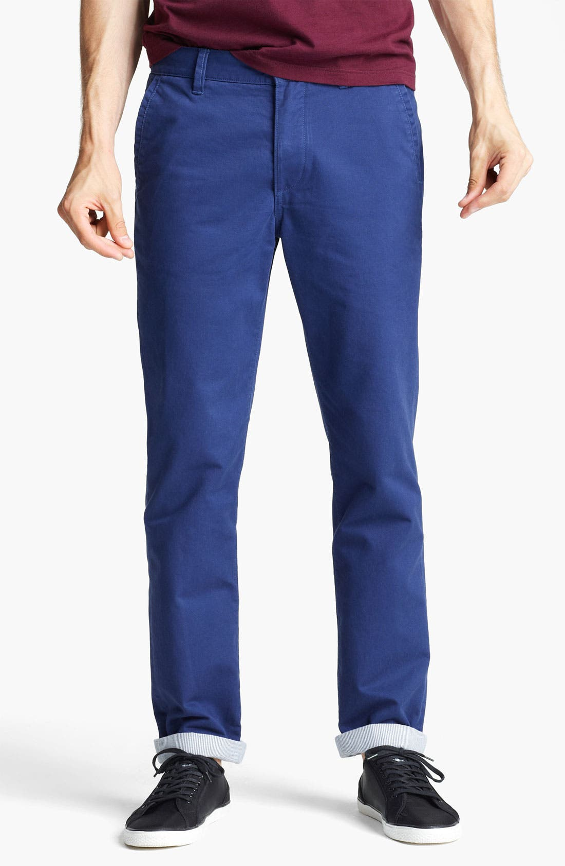 Alternate Image 1 Selected - Topman Slim Fit Chinos