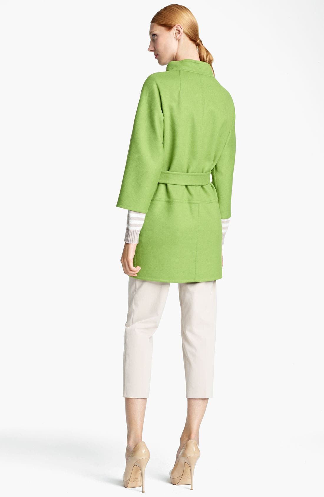 Alternate Image 2  - Max Mara 'Lipari' Belted Wool Blend Coat