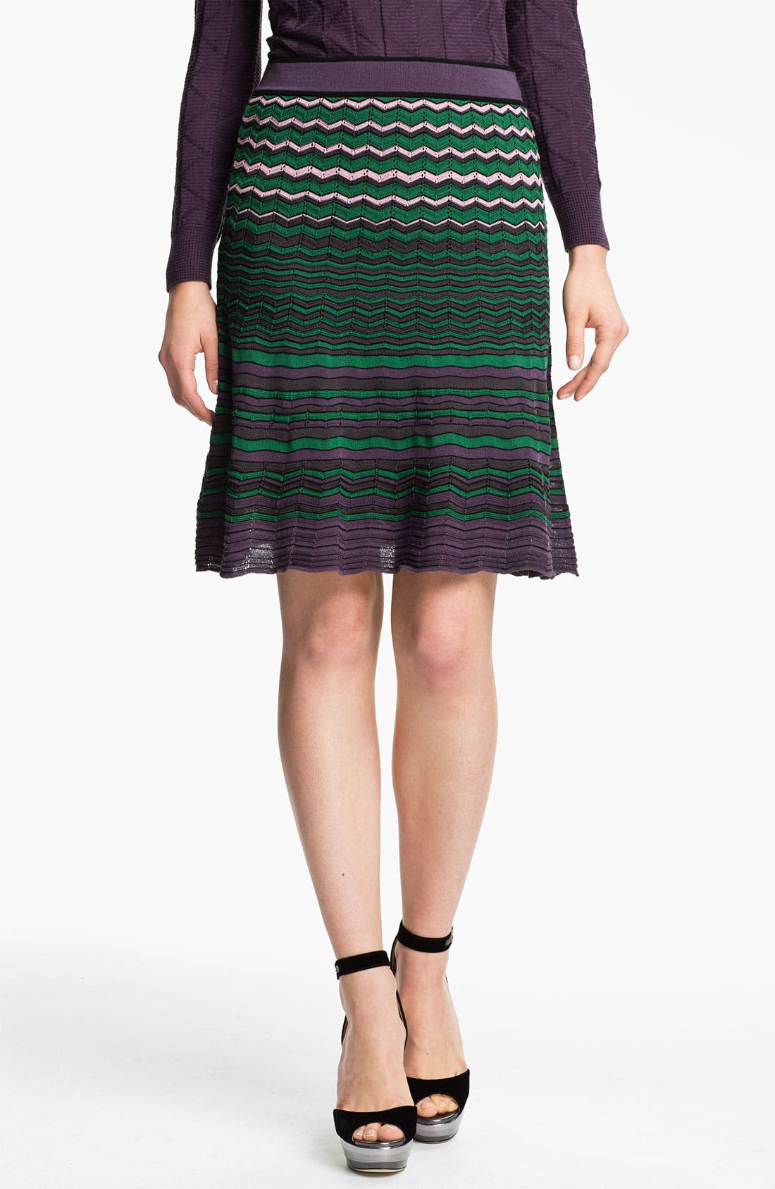 Alternate Image 1 Selected - M Missoni Zigzag Stitch Skirt