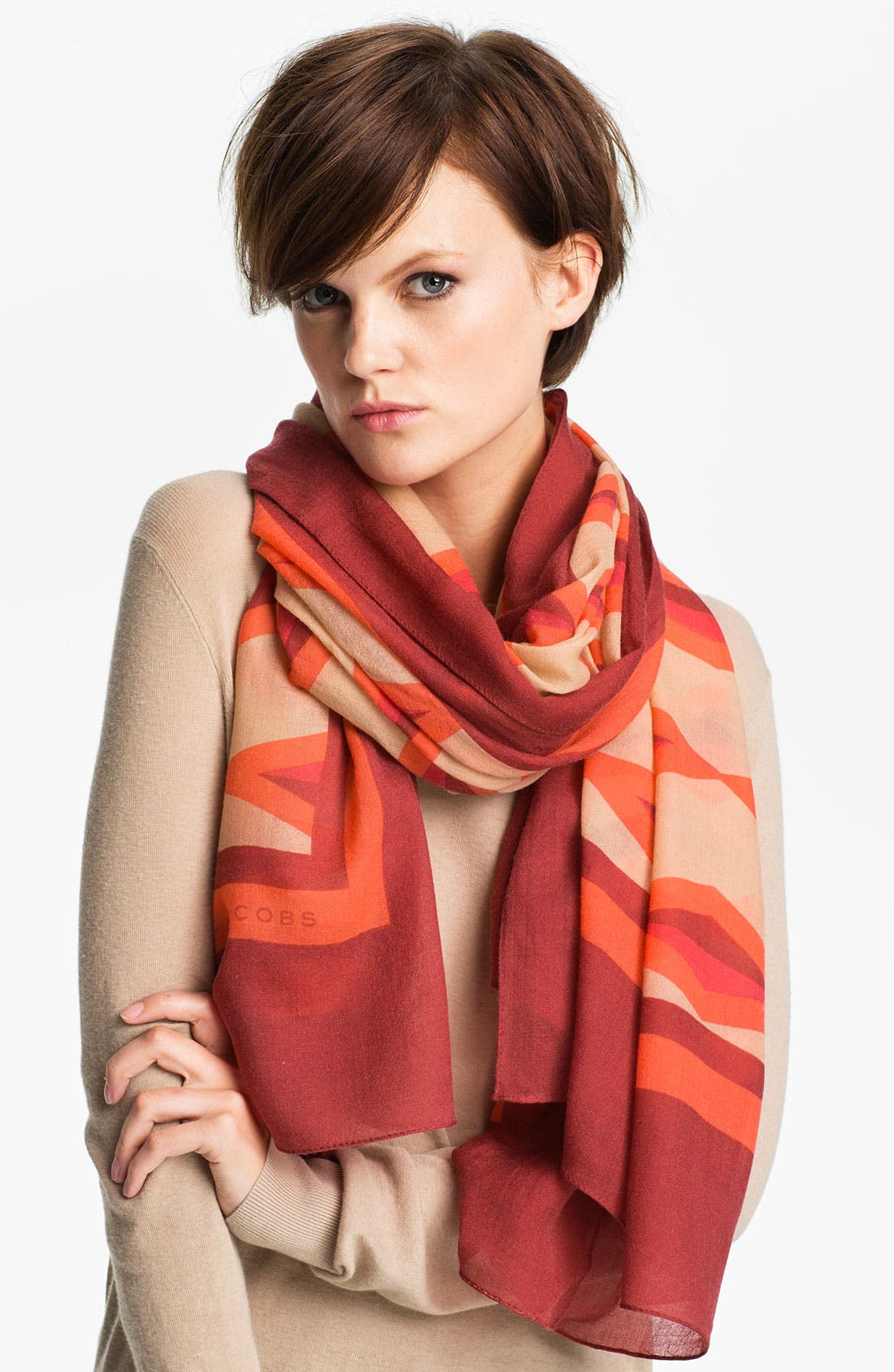 Alternate Image 1 Selected - MARC BY MARC JACOBS 'Hayley Stripe' Wool Scarf