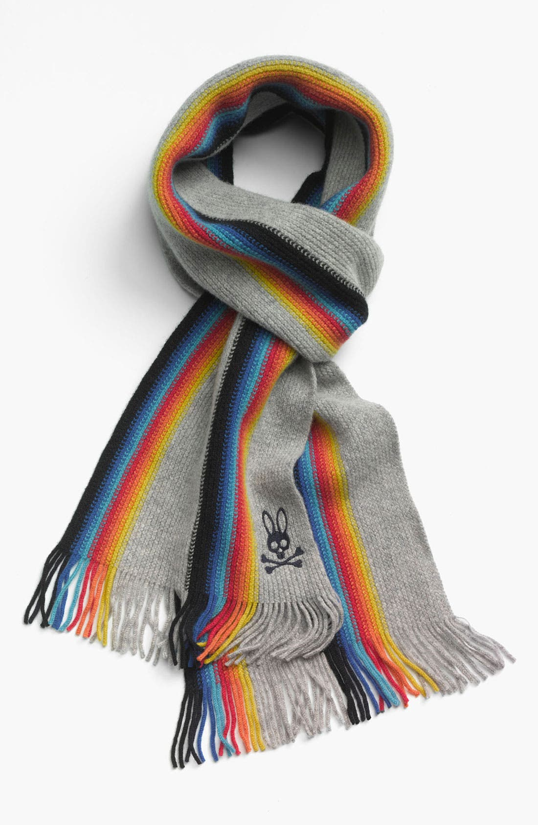 Main Image - Psycho Bunny Multi Stripe Lambswool Scarf