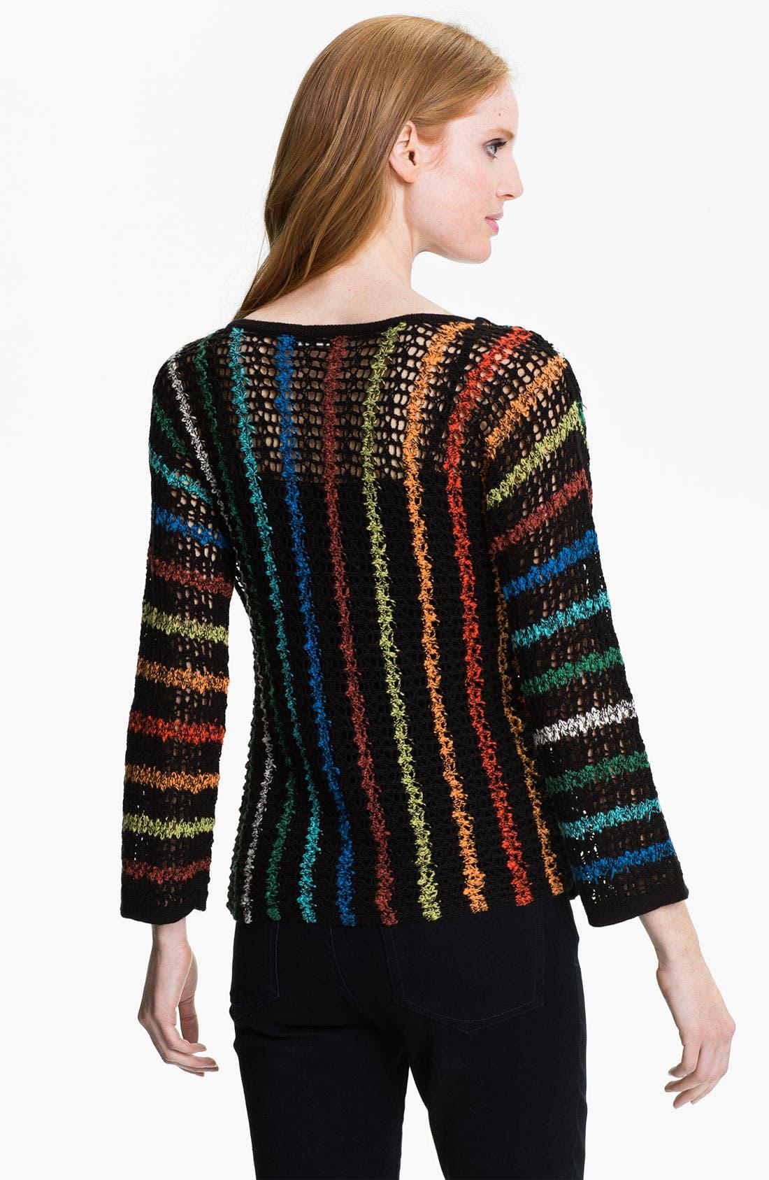 Alternate Image 2  - Nic + Zoe Rainbow Stripe Sweater