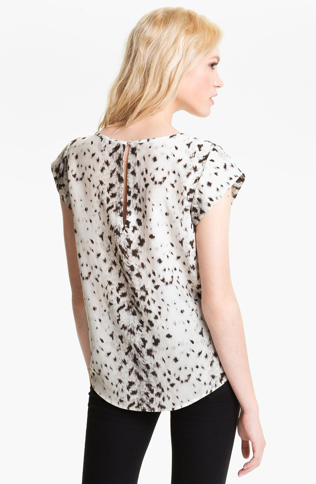 Alternate Image 2  - Joie 'Rancher' Silk Pocket Top