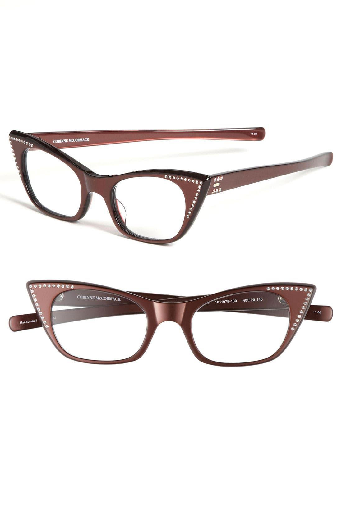 Alternate Image 1 Selected - Corinne McCormack 'Melissa' Crystal Cat's Eye Reading Glasses