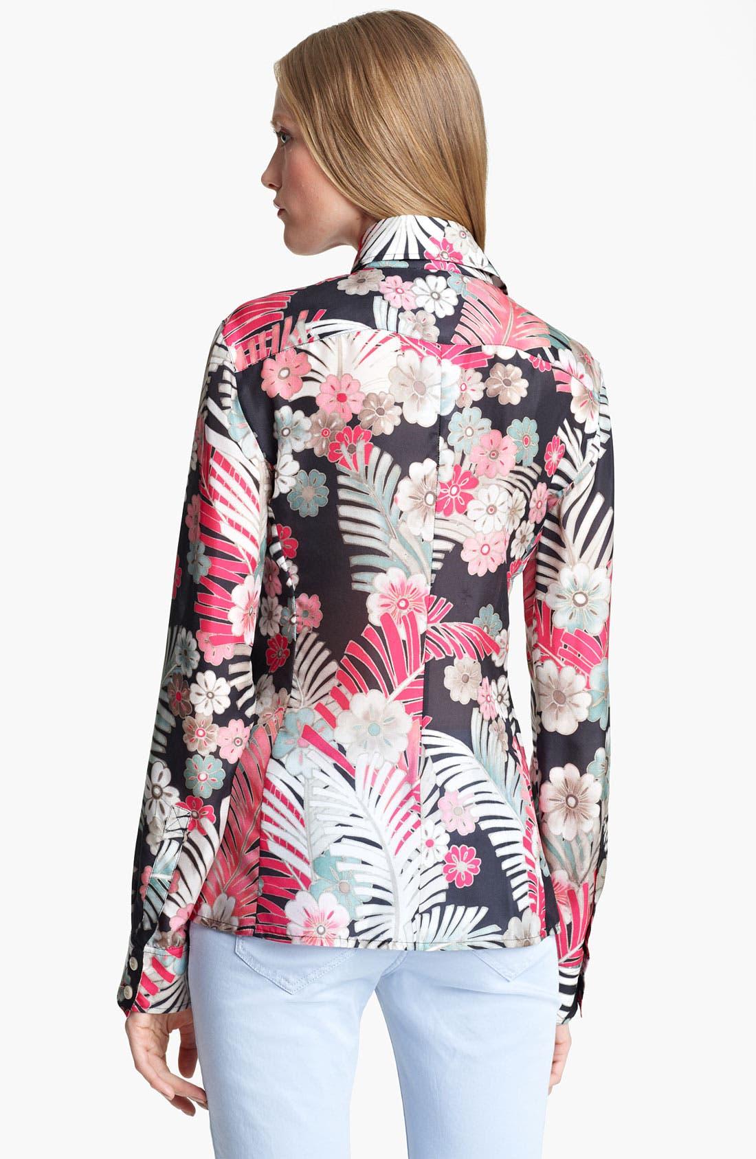 Alternate Image 2  - Armani Collezioni Botanical Print Silk Blouse
