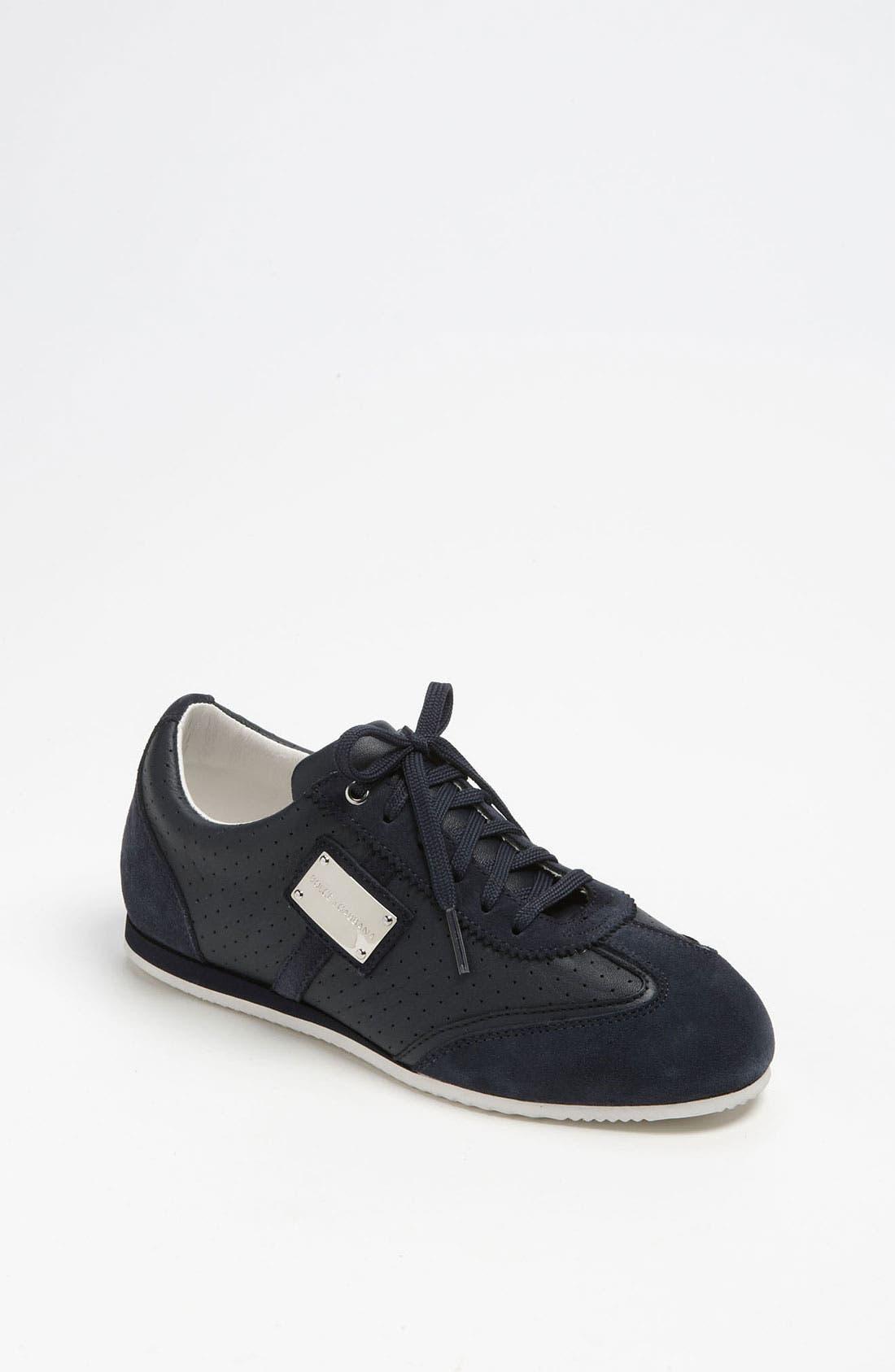 Alternate Image 1 Selected - Dolce&Gabbana Lace-Up Sneaker (Toddler, Little Kid & Big Kid)