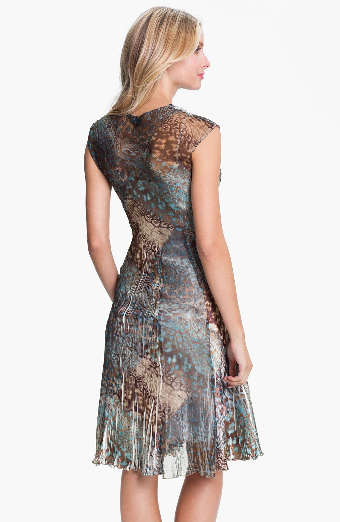 Alternate Image 2  - Komarov V-Neck Animal Print Chiffon Dress