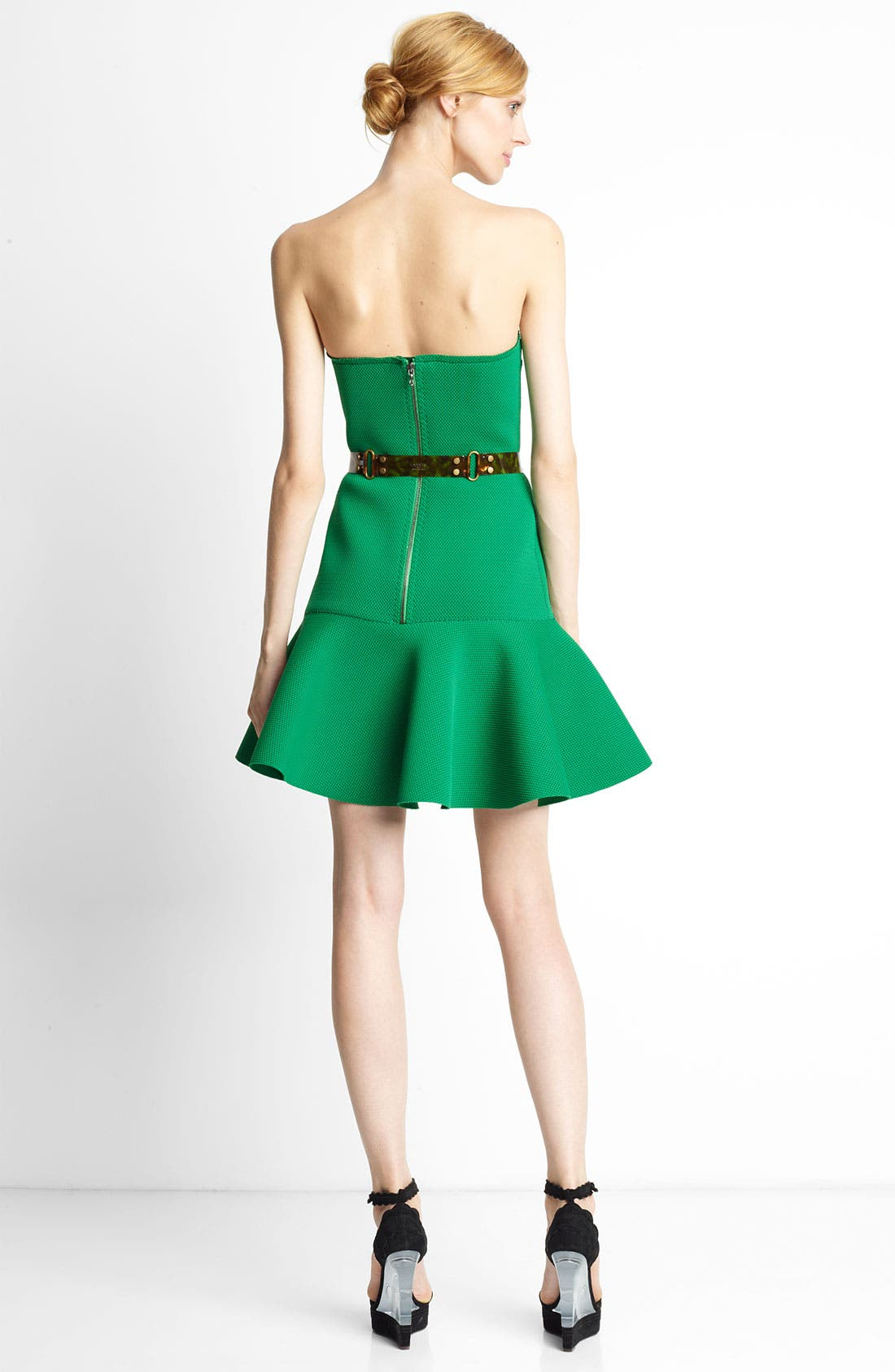 Alternate Image 2  - Lanvin Strapless Piqué Dress
