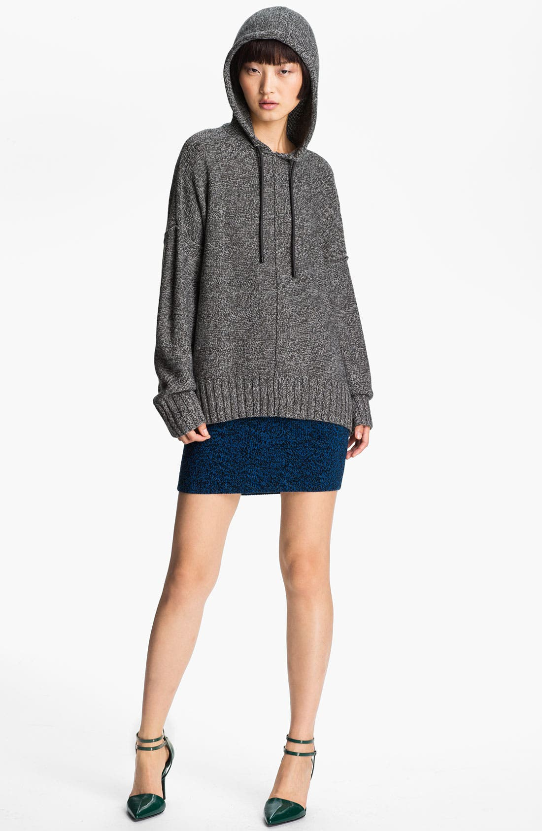 Alternate Image 3  - T by Alexander Wang Boxy Knit Hoodie