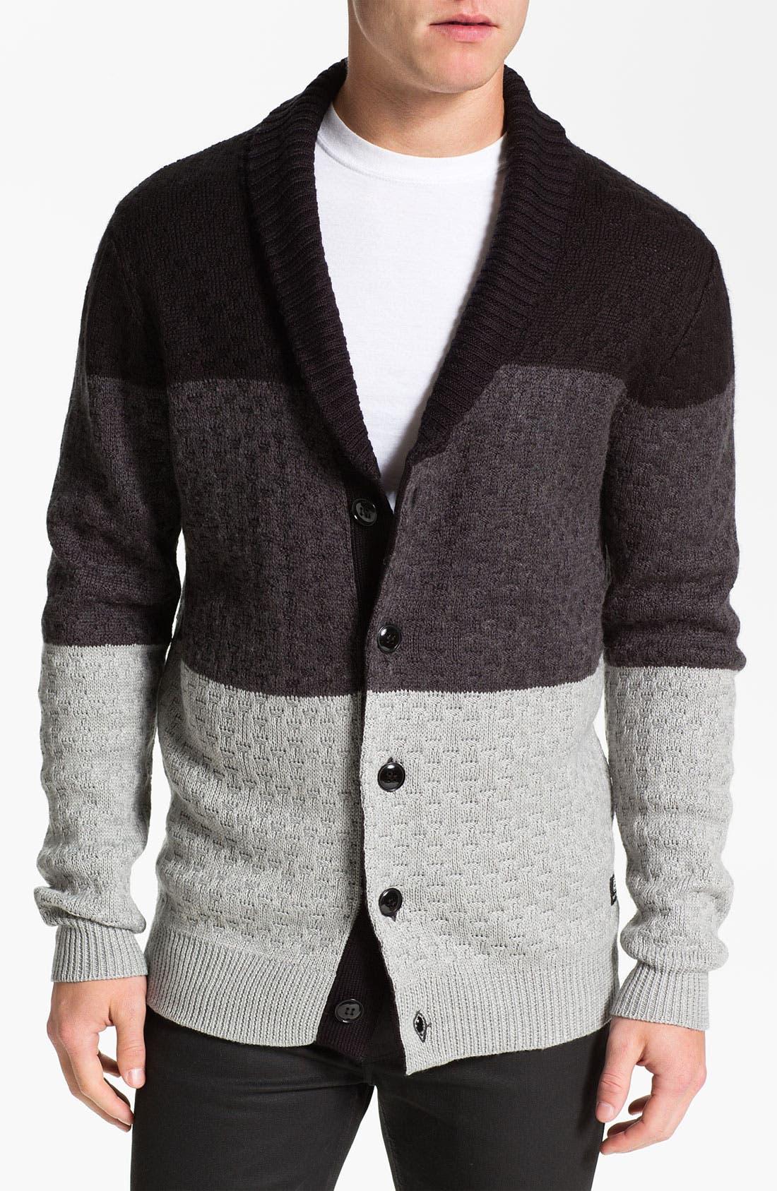 Main Image - 55DSL 'Kanfyl' Shawl Collar Cardigan